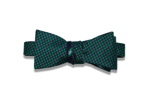 Double Sided Green Silk Bow Tie (self-tie)