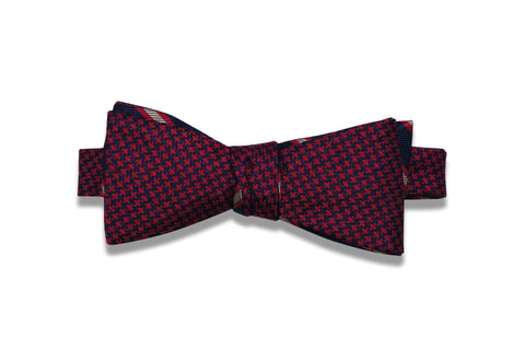 Double Sided Red Silk Bow Tie (self-tie)