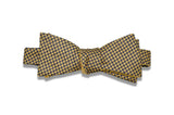 Double Sided Yellow Silk Bow Tie (self-tie)