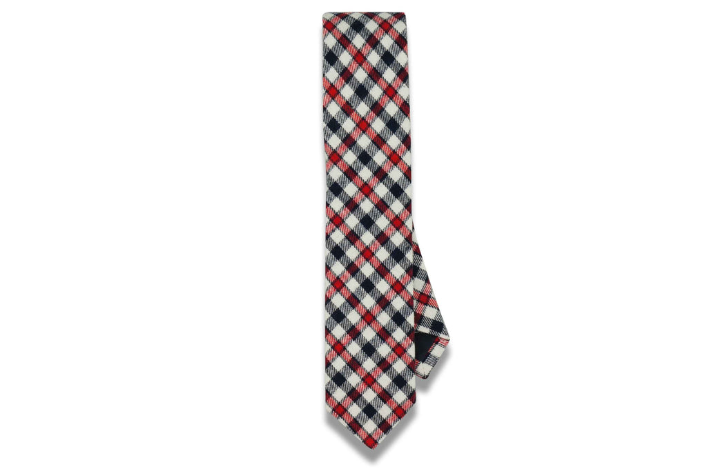 Dylan Red Cotton Skinny Tie
