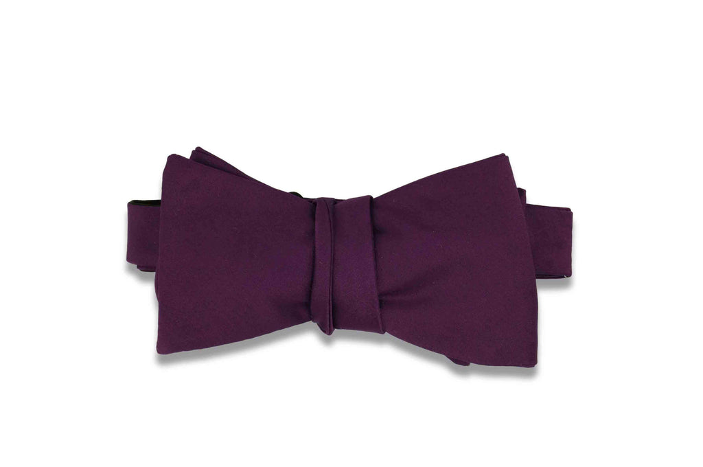 Eggplant Purple Bow Tie (Self-Tie)