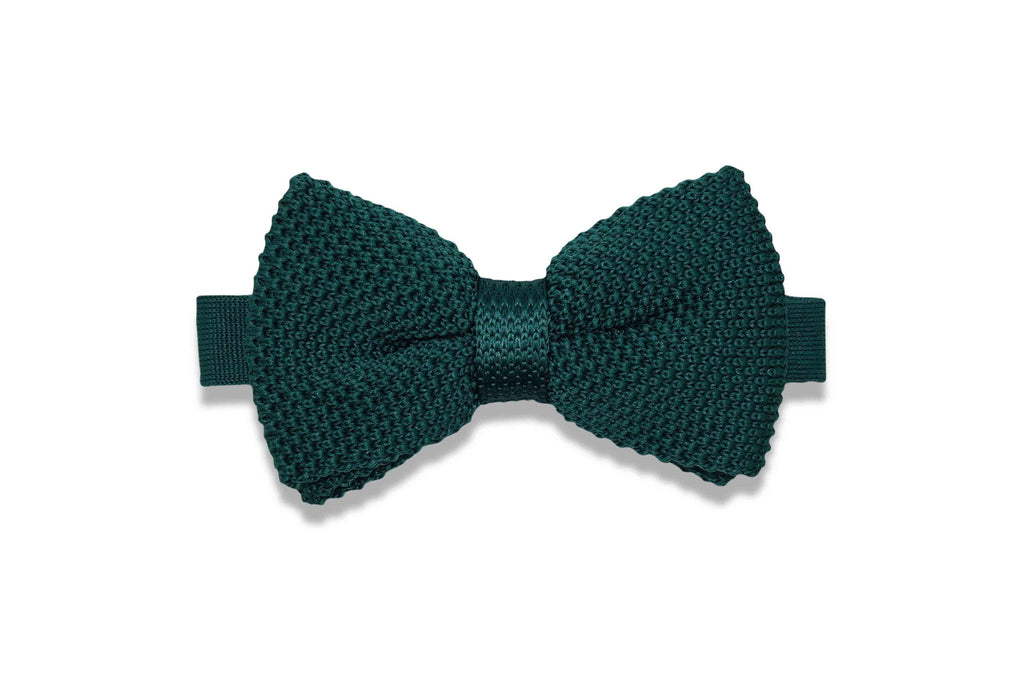 Emerald Green Knitted Bow Tie (pre-tied)
