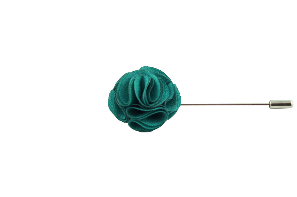 Emerald Twirl Lapel Flower