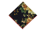 Evening Garden Cotton Pocket Square