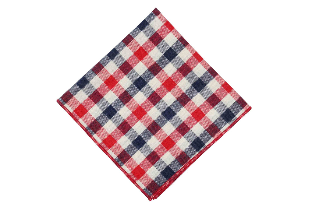 Fade Red Cotton Pocket Square