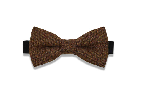 Fall Brown Wool Bow Tie (pre-tied)