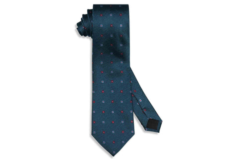 Field Blue Flowers Silk Tie