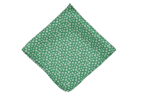 Field Green Silk Pocket Square