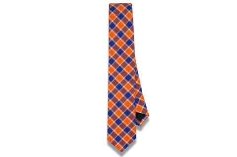 Finley Orange Cotton Skinny Tie