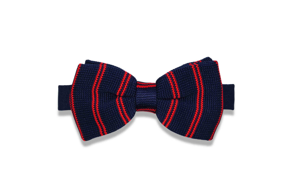 Fire Waves Knitted Bow Tie (pre-tied)