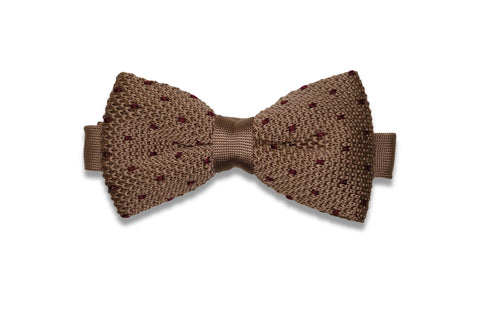 Flaming Dots Knitted Bow Tie (pre-tied)