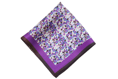 Flower Power Silk Pocket Square