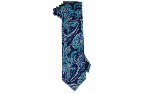 Flowers Blue Silk Tie