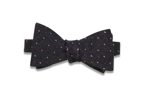 Flying Flames Wool Bow Tie (self-tie)