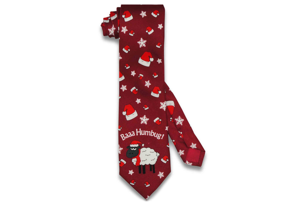 Flying Santa Hat Tie