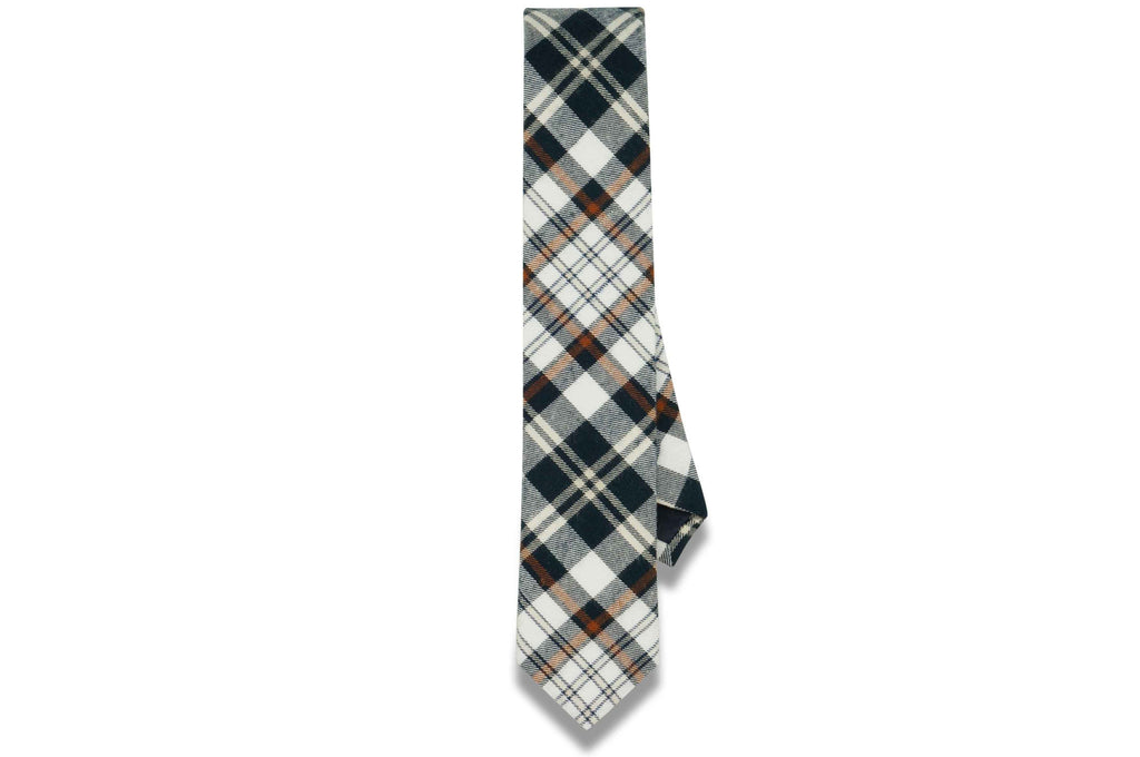 Freddie Plaid Cotton Skinny Tie