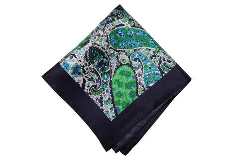 Fredmond Greens Silk Pocket Square