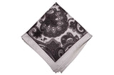 Fredmond Silver Silk Pocket Square