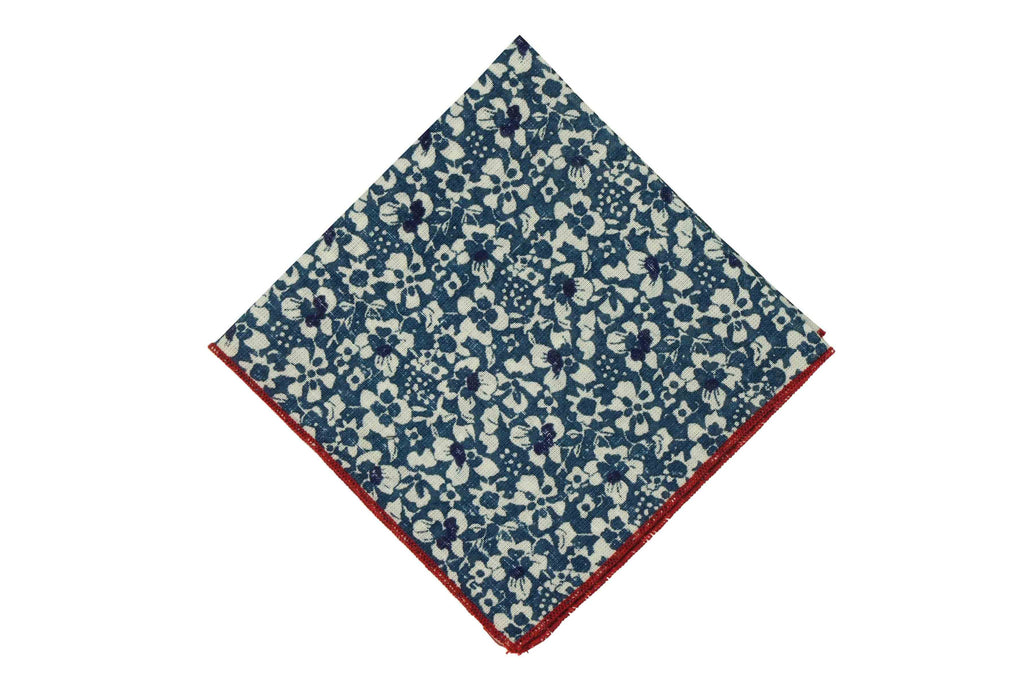 French Garden Cotton Pocket Square