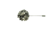 Full Petal Black White Lapel Flower