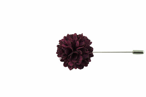 Full Petal Tyrian Purple Lapel Flower