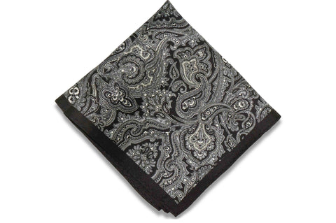 Garden Night Silk Pocket Square
