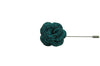 Green Glitter Lapel Flower