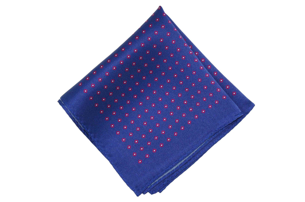 Glowing Blue Silk Pocket Square