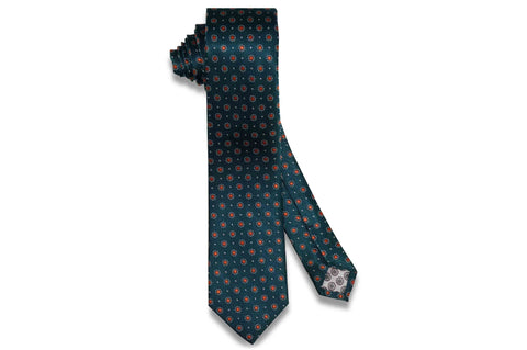 Glowing Flowers Silk Skinny Tie