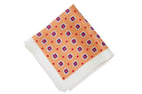 Glowing Square Flowers Silk Pocket Square