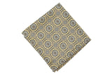 Gold Medallion Silk Pocket Square