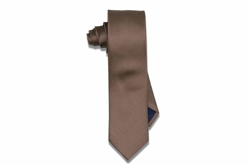 Golden Brown Dust Silk Skinny Tie