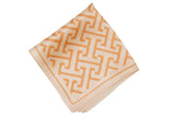 Golden Maze Silk Pocket Square