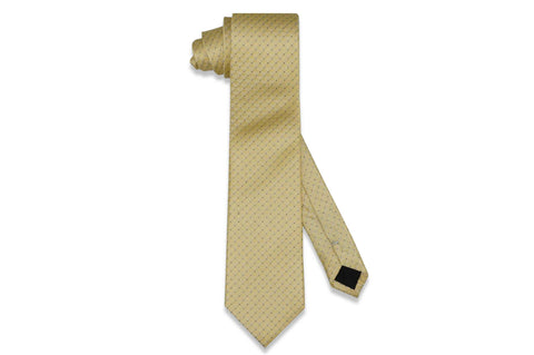 Golden Yellow Dots Silk Tie