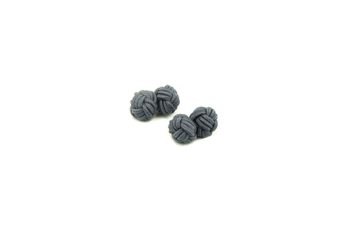 Grey Knotted Cufflinks