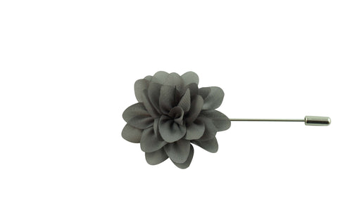 Gray Petal Lapel Flower