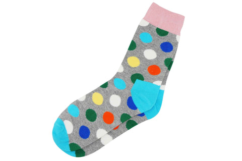 Gray Polka Dot Men's Socks