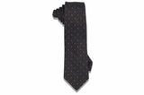Gray Stitched Wool Tie