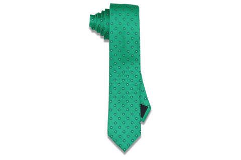 Green Bay Circles Silk Skinny Tie