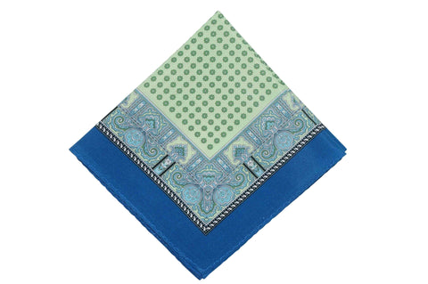 Green Blues Cotton Pocket Square