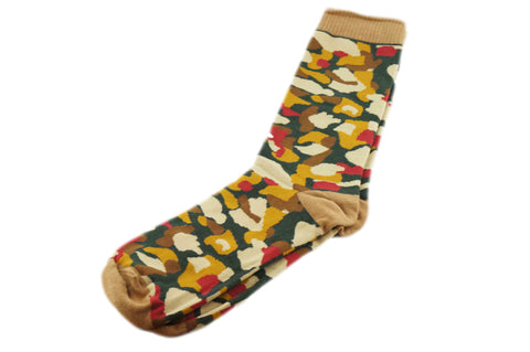 Green Brown Camo Men's Socks
