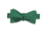 Green Dotted Silk Bow Tie (self-tie)