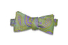 Green Edge Paisley Silk Bow Tie (self-tie)