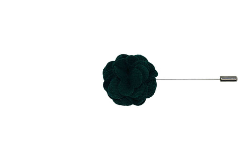 Green Felt Overlay Lapel Flower