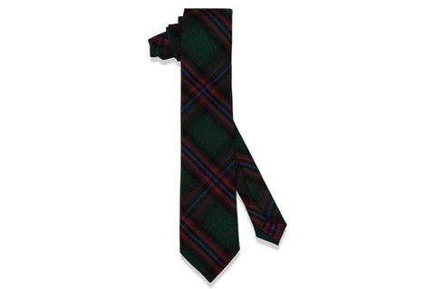 Green Framed Cotton Skinny Tie