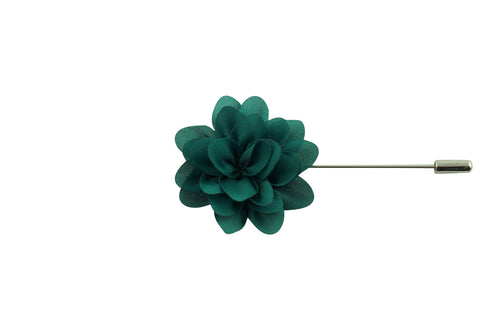 Green Petal Lapel Flower