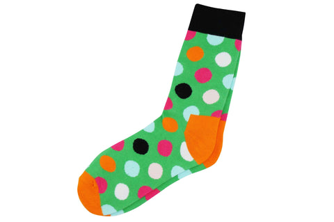 Green Polka Dot Men's Socks