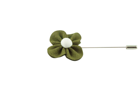 Green Poppy Lapel Flower
