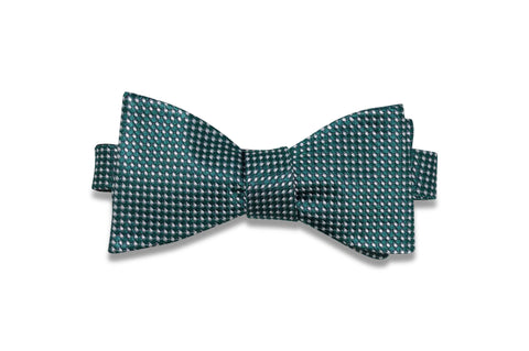 Green Snow Silk Bow Tie (self-tie)