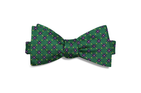 Greenfield Flowers Silk Bow Tie (self-tie)